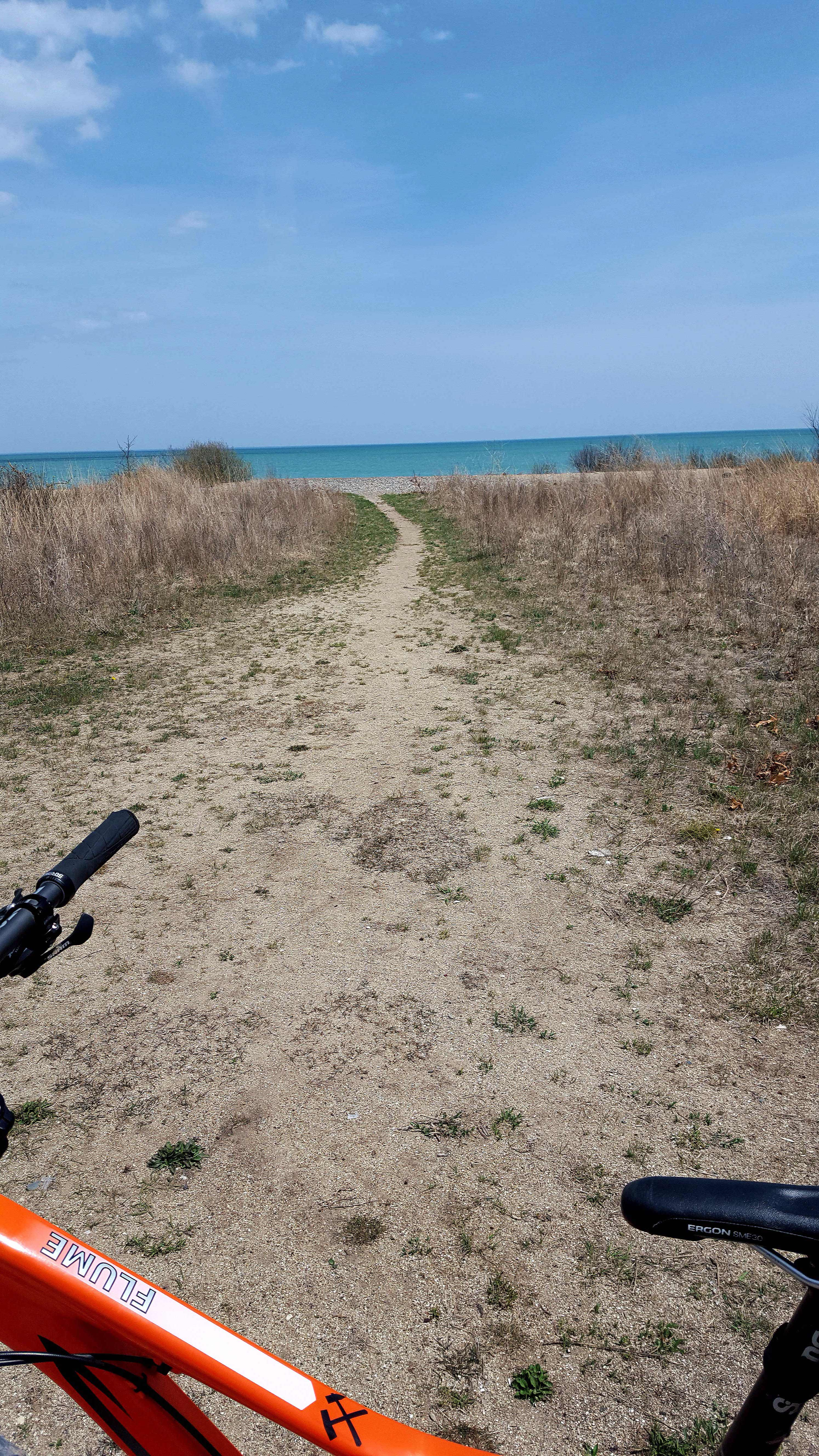 Fat Bike by Water to mix riding w/ swimming