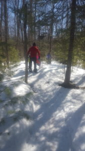 This Family Snowshoe Guided Tour took Participants to Secret Sledding Spots!