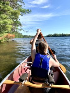 Northwoods canoe day trips are kid friendly!