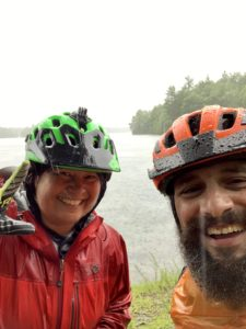 Wet guided bike tour; however, spirits ran high and did get to some gorgeous places!