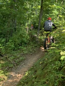 We build tour participant bike handling skills, which come in handy when it's time to ride singletrack trail!