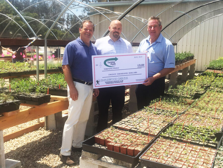 Donation from Sherwood Cares Charitable Foundation