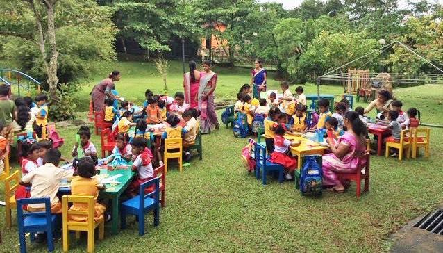 Preschool class outdoor
