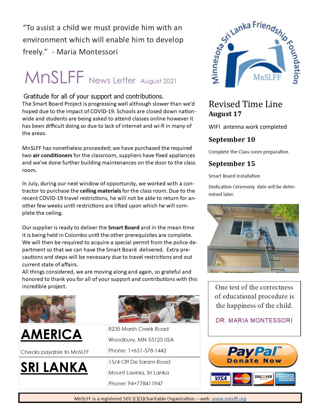 News Letter August 21