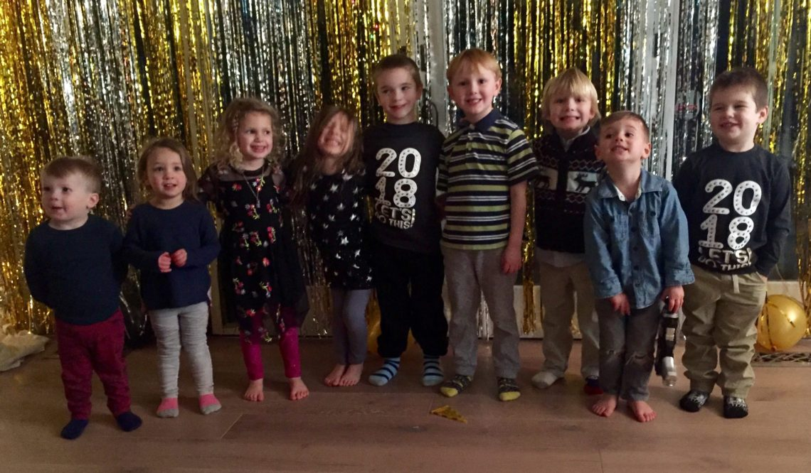 Hosting a new year's eve party with kids