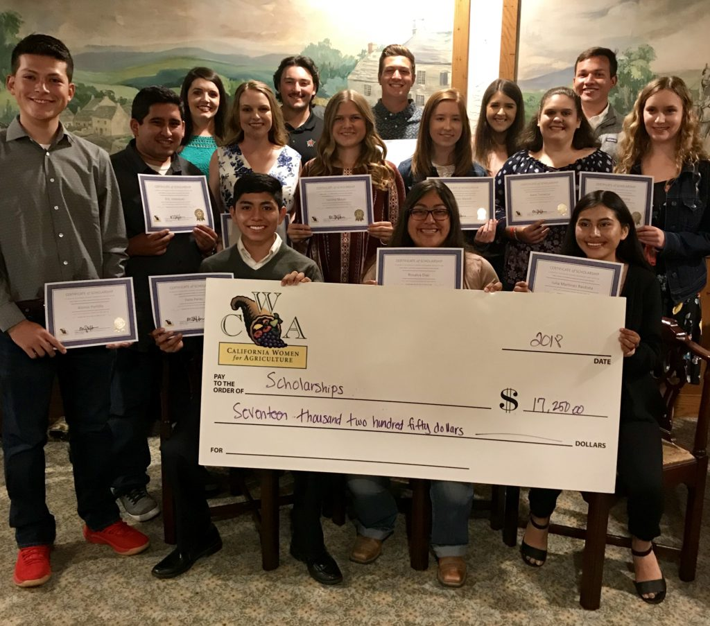 Our 2018 scholarship recipients!