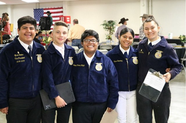 We could not pull off a successful even with the help of our local FFA students!