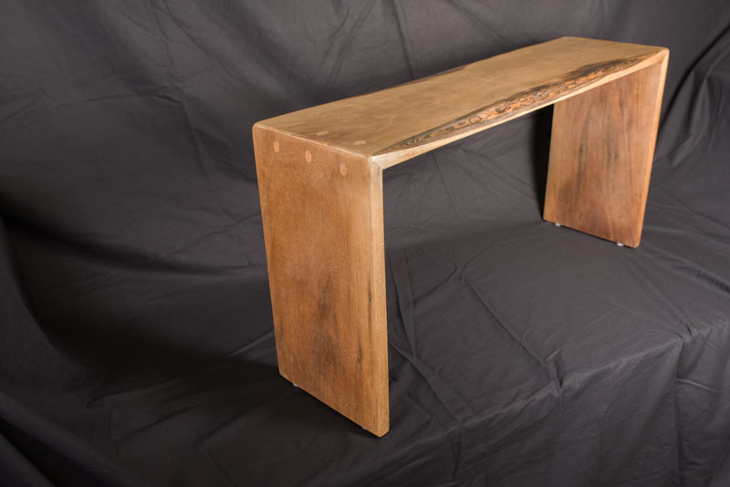 "Doweled Bench, Black Walnut with Hand Rubbed Wax Finish  36"" x 10"" 19""h"