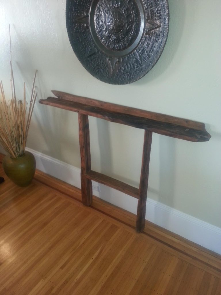 "Backboard Console, Reclaimed Douglas Fir 52"" x 6"" 37""h"