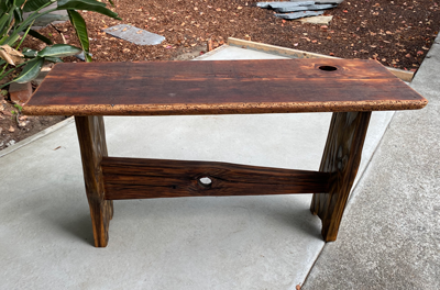 FourKnots Bench Reclaimed Redwwod & Douglas Fir