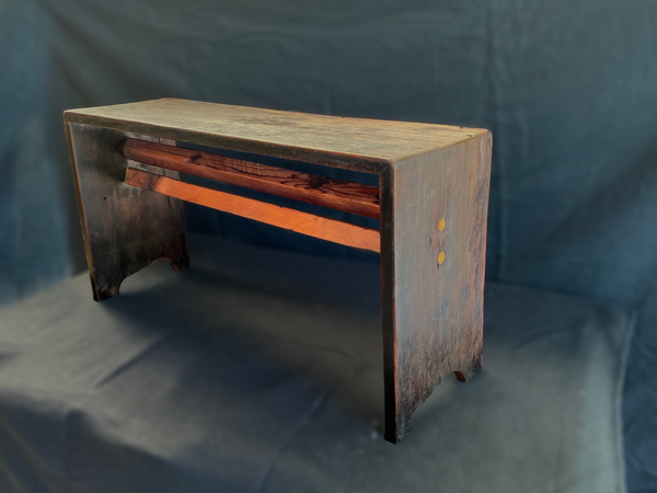 Double Beam Redwood Bench