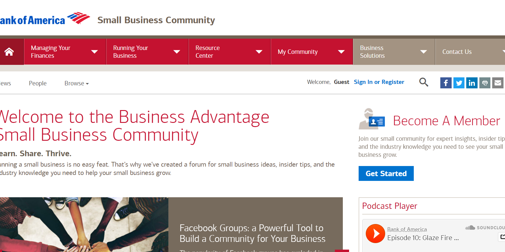 Bank of America Small Business Community