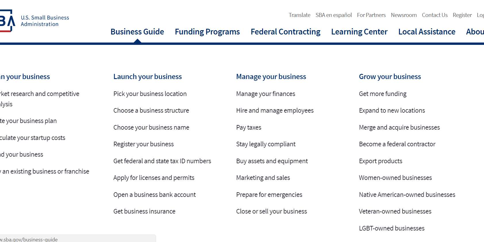 SBA Business Guide