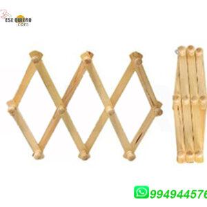 Perchero plegable de madera colgador ropa hogar Comprar al 994944576