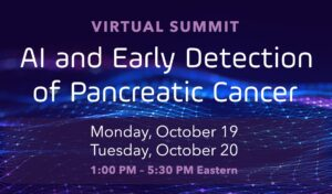 Virtual Summit information on a purple and blue background