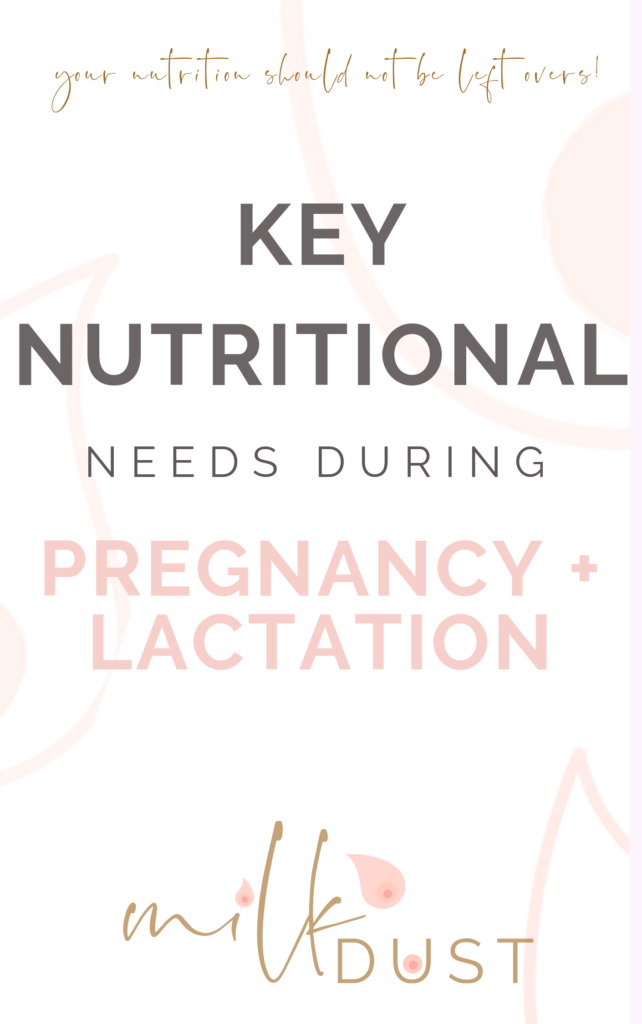 pdf key nutritional needs for pregnancy and lactation