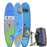 evolve orange stripe inflatable paddle board for sale