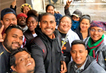 Anni joins climate awareness walk