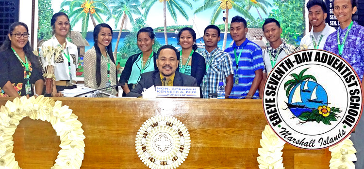 "Ebeye students get ""red carpet"" treatment"