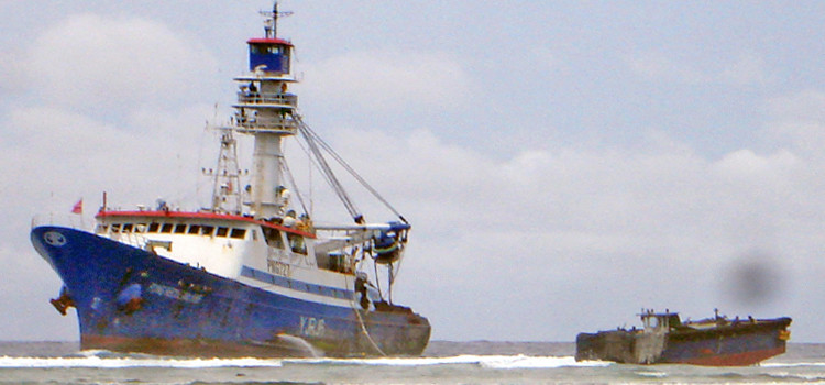 Seiner grounded in Majuro