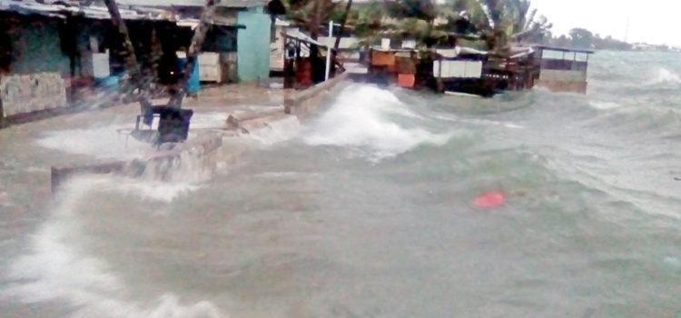 Lagoon flooding in Majuro