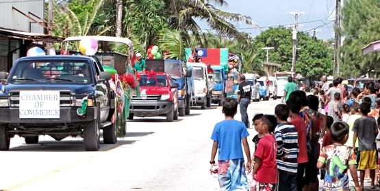 Majuro's Christmas parade