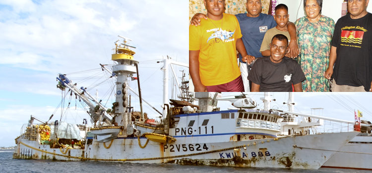 Fishing boat rescues I-Kiribati