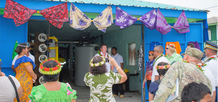 Water flows for Ebeye