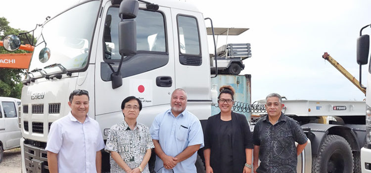 Japan donates heavy equipment