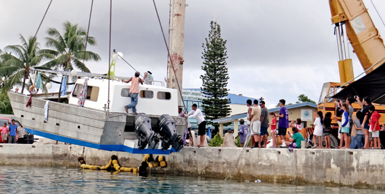 Kirt's famous boat re-launched