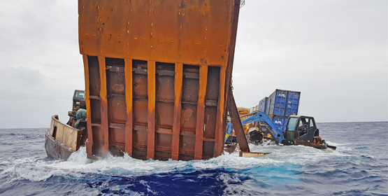 PII saves barge from sinking
