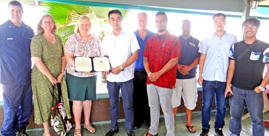 US Coast Guard honors FV Lomalo