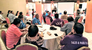 Ministry of Finance is pushing state owned enterprises in RMI to reform their work to comply with a 2015 law passed by Nitijela. A meeting at Marshall Islands Resort with SOE and Finance representatives talked over plans.