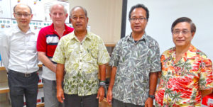 Far left is Yung-Hsin Lin, ICDF Program Officer for Lending, who was in Majuro last month to continue development of the proposal that would see an additional $900,000 be provided by ICDF for the micro loan program managed by Bank of Marshall Islands.