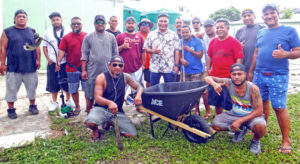 The Ippen Dron Billiard Club (IDBC) spent an entire day cleaning the grounds of Majuro hospital last Saturday. Photo: Hillary Hosia