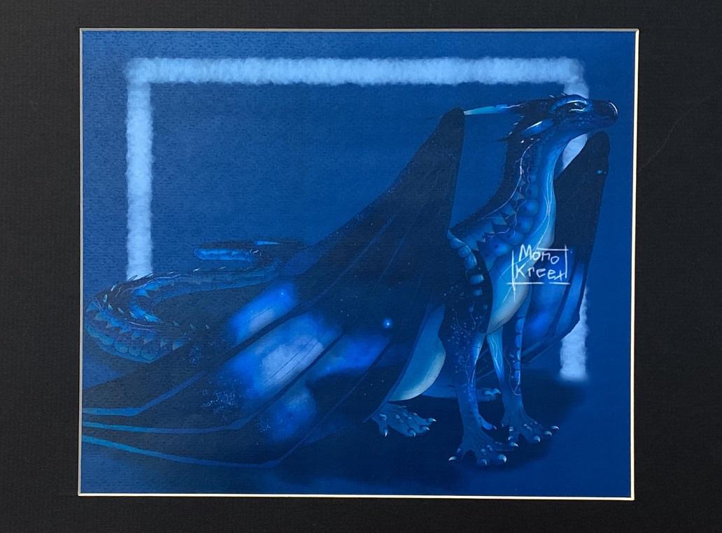 Blue Dragon (Digital Art)