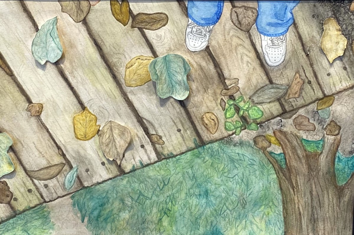 Edge of the Watershed  (Watercolor Pencil)
