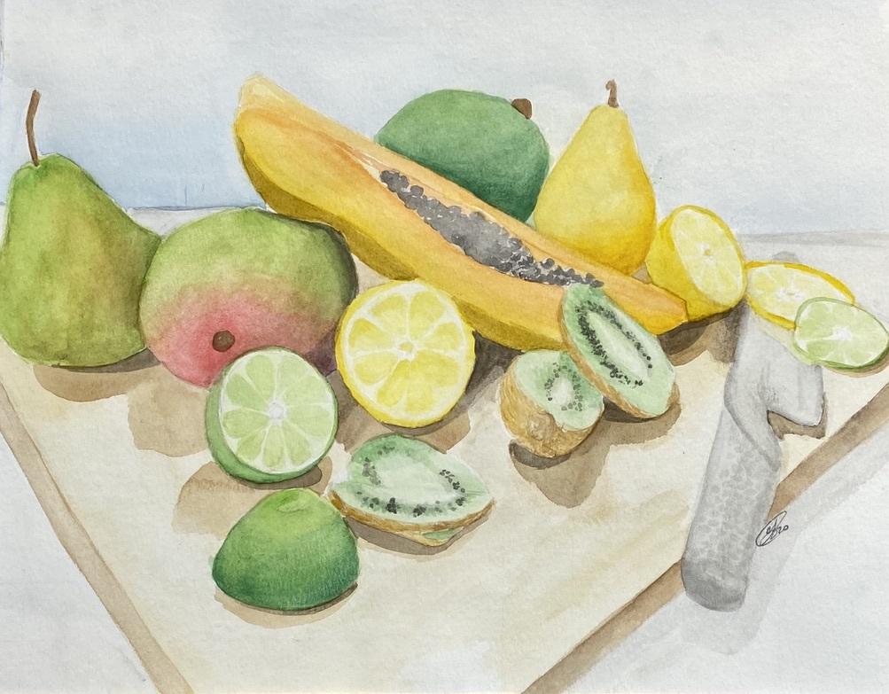 Fruit Salad  (Watercolor)