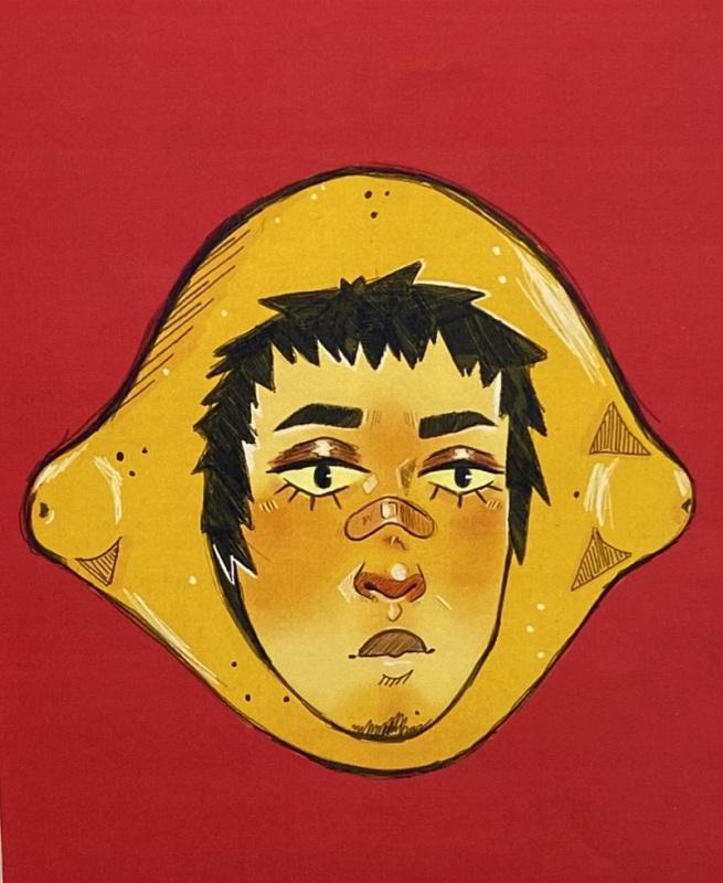 Lemon Head (Digital Art)