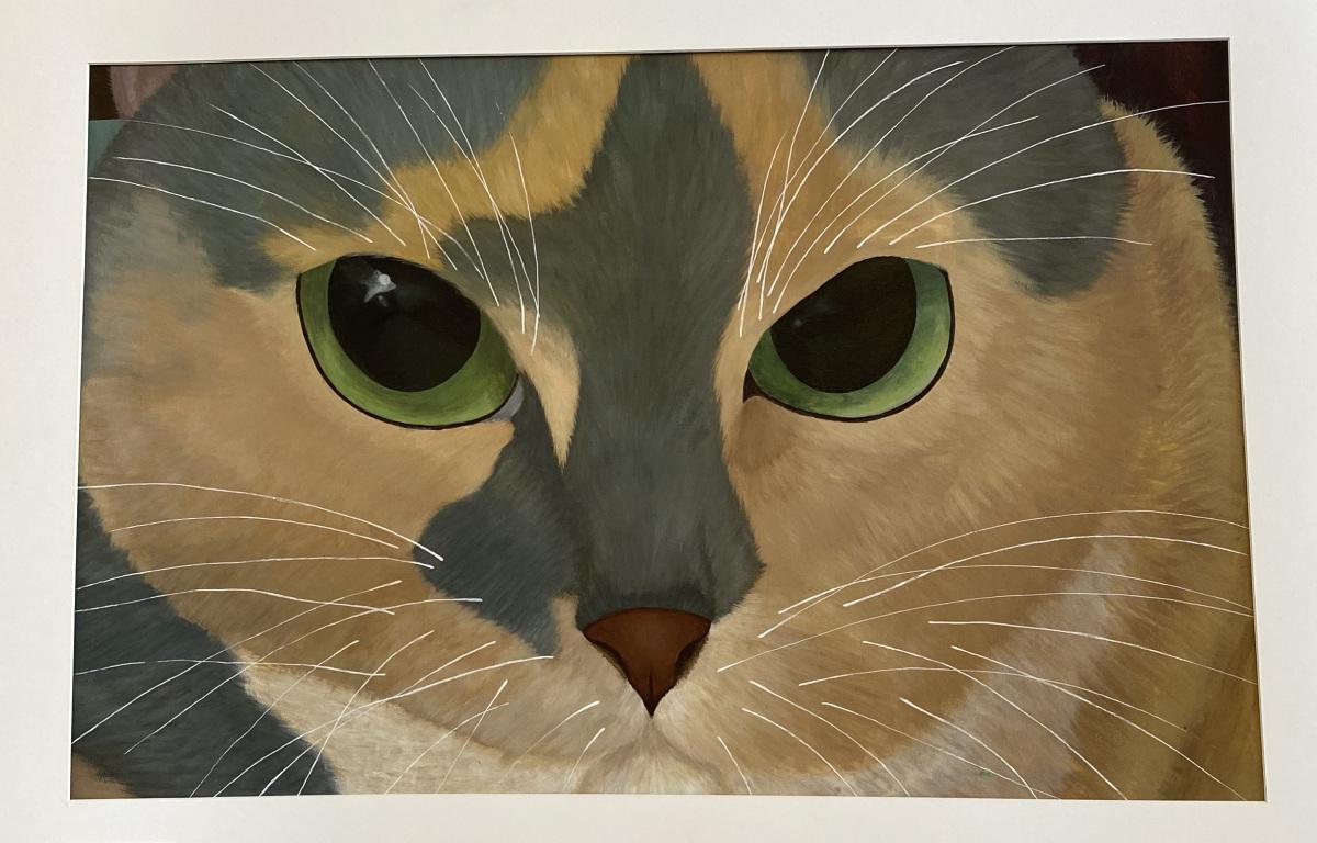 My Feline Friend (Acrylic)