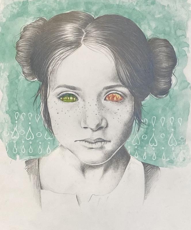 Possessed Child (Graphite and Colored Pencil)