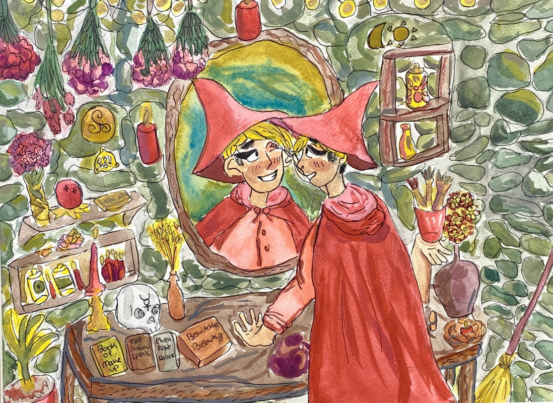 Joy (Watercolor and Pen)