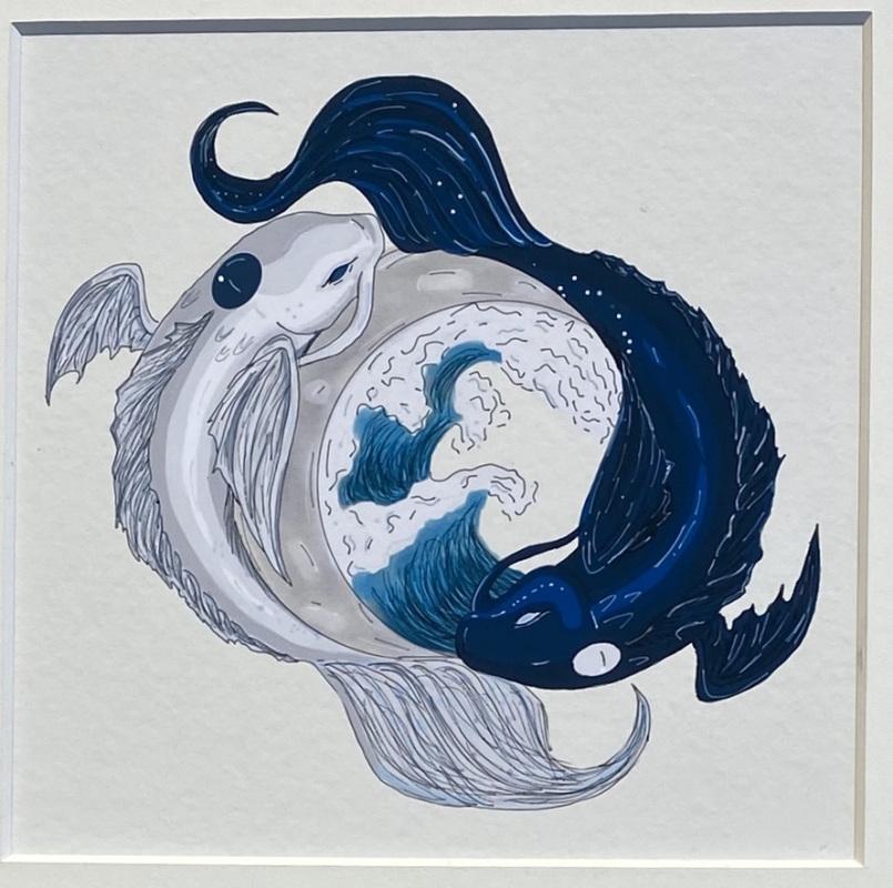 Swimming (Digital Drawing)