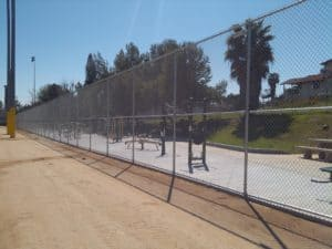 Ballpark Chain Link Fence