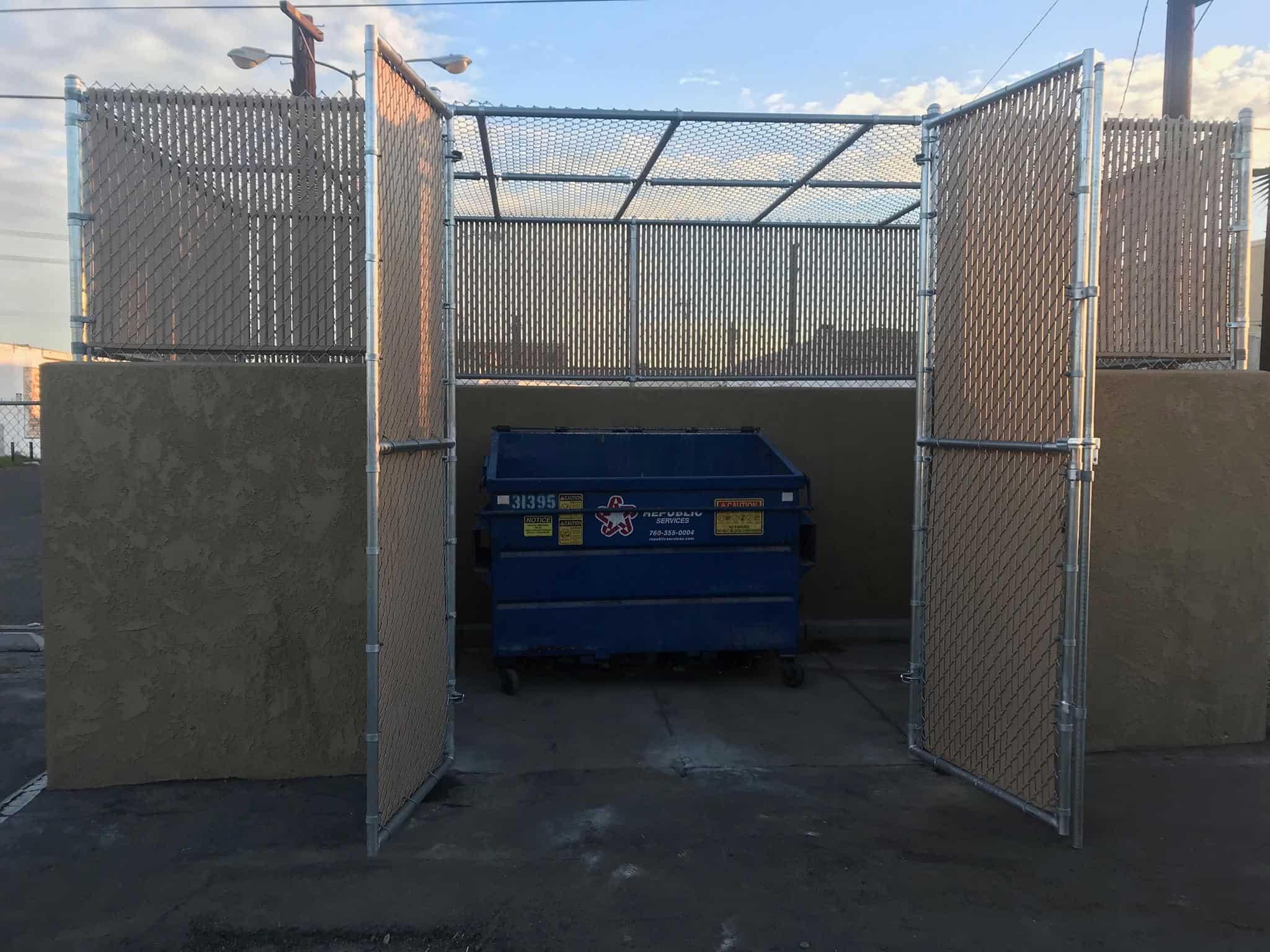 Chain Link Dumpster 2- Wells Fargo Bank