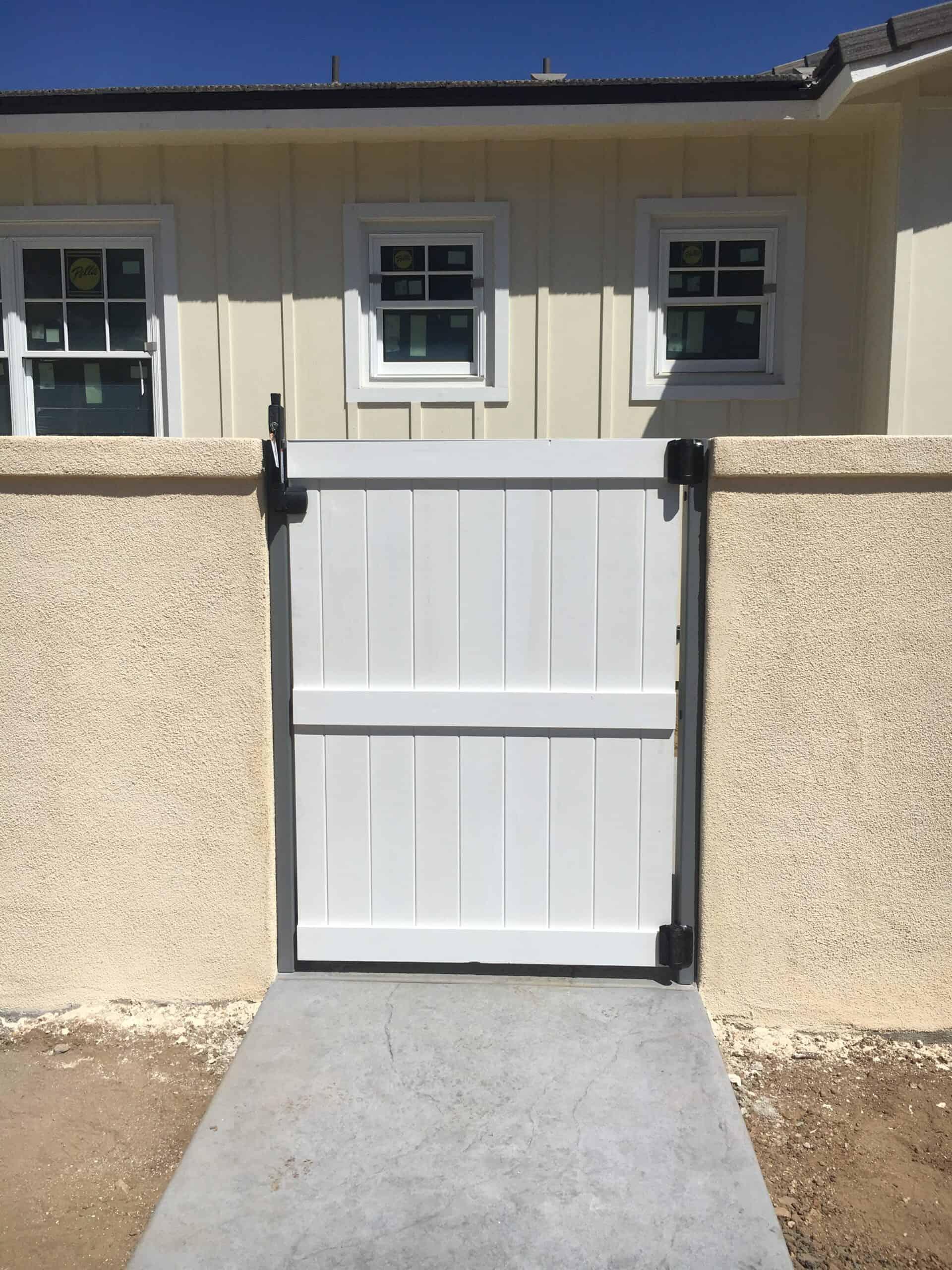 White Door Gate