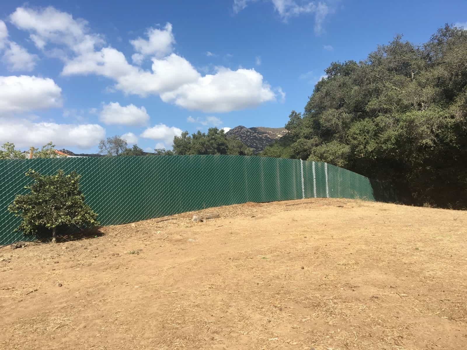 Chain Link with Privacy Slats - Legend Fence