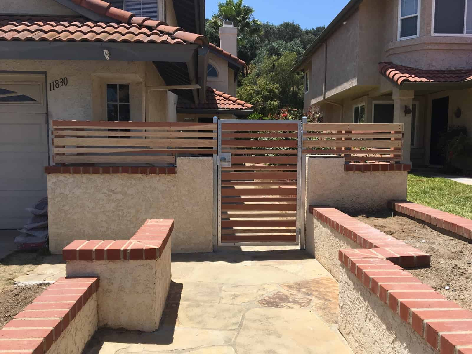 Residential Front Gate Wood - Legend Fence