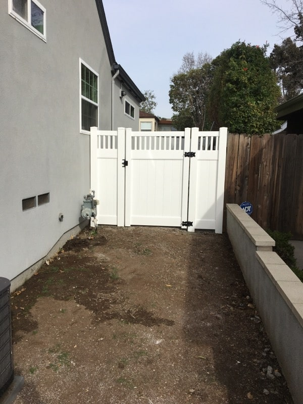 White Vinyl Privacy Gate