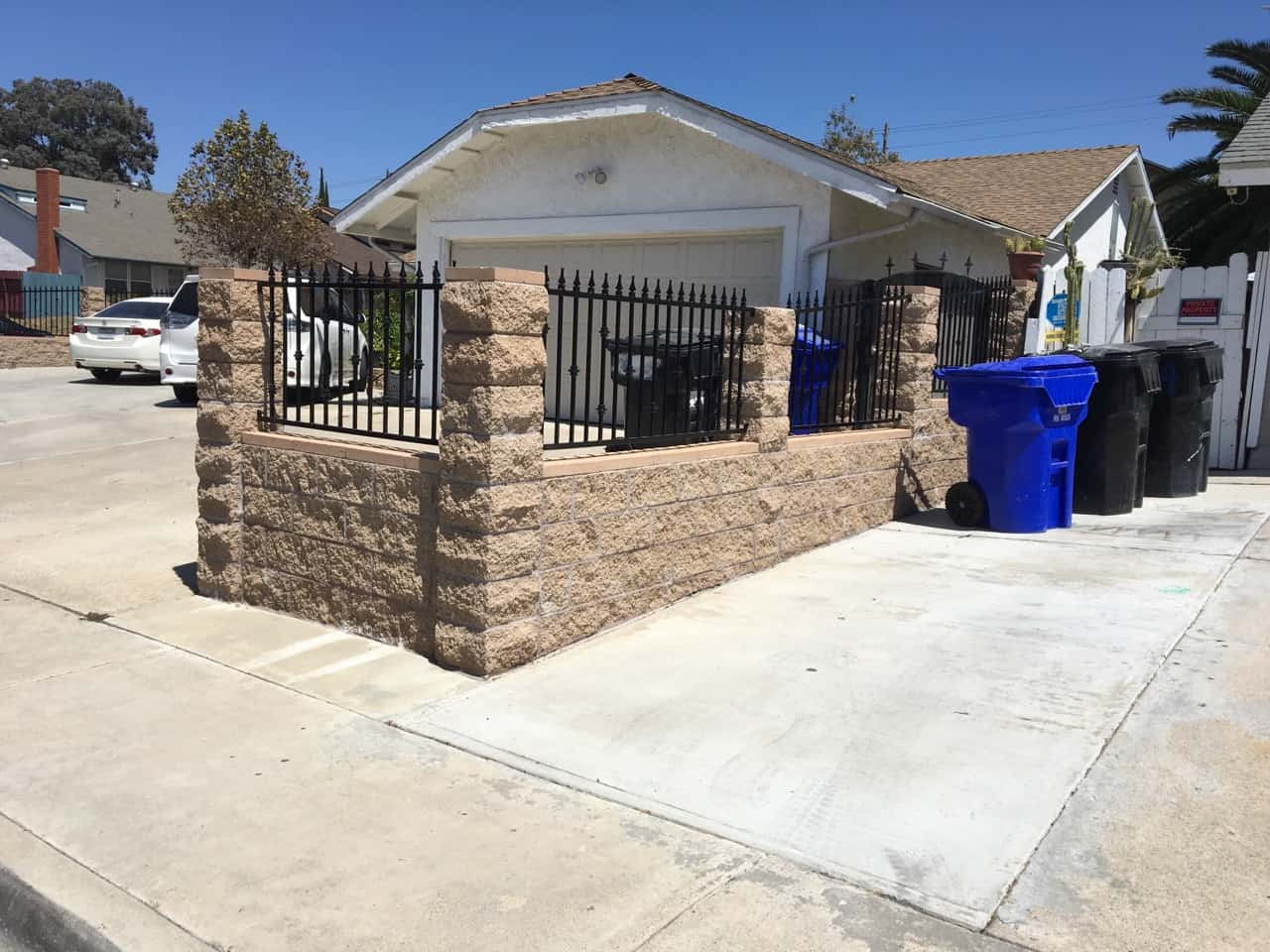 wrought iron fence on top of block wall legend fence san diego